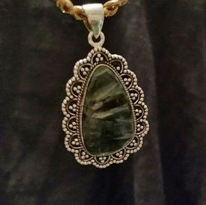.925 Silver Seraphinite Pendant